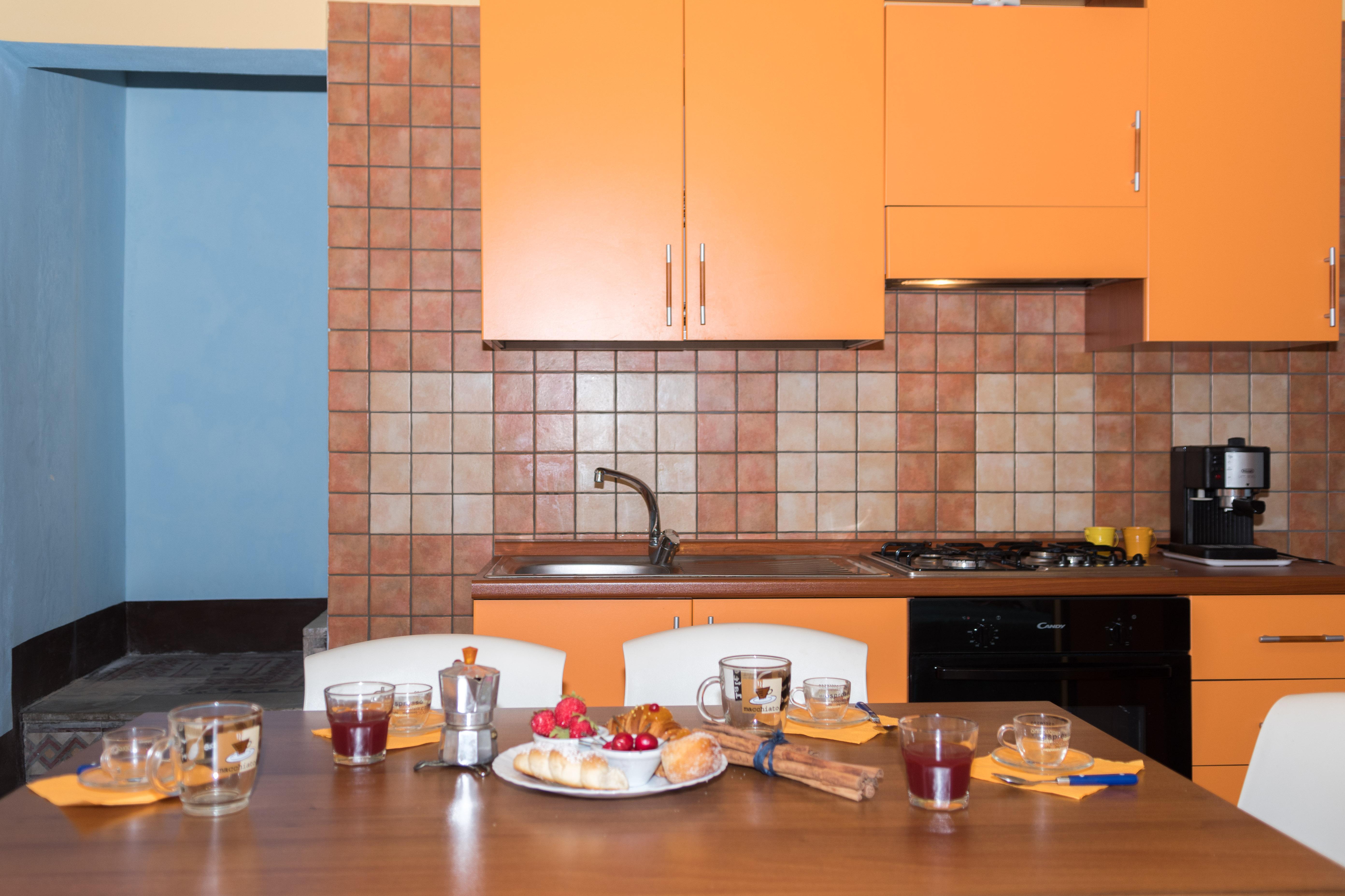 Cucina e piano cottura della cucina del trivani