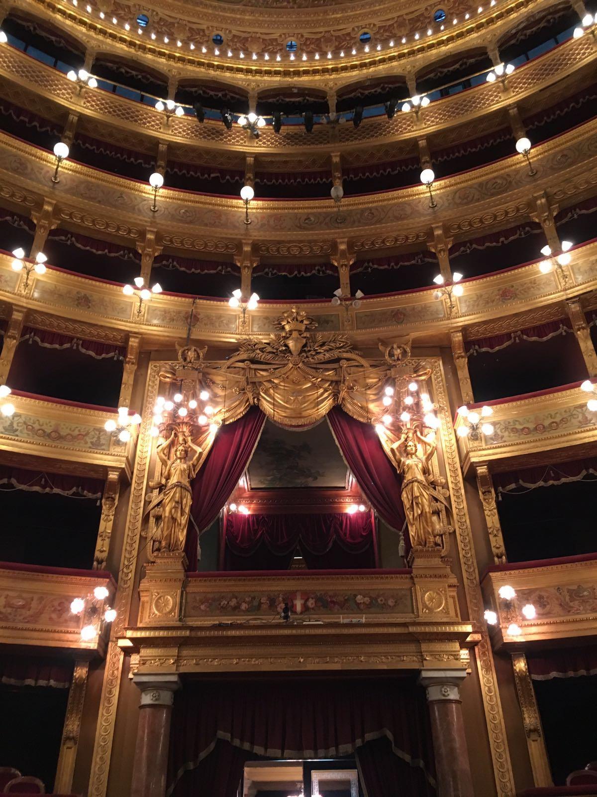 Il palco reale all'interno del Teatro Massimo di Palermo