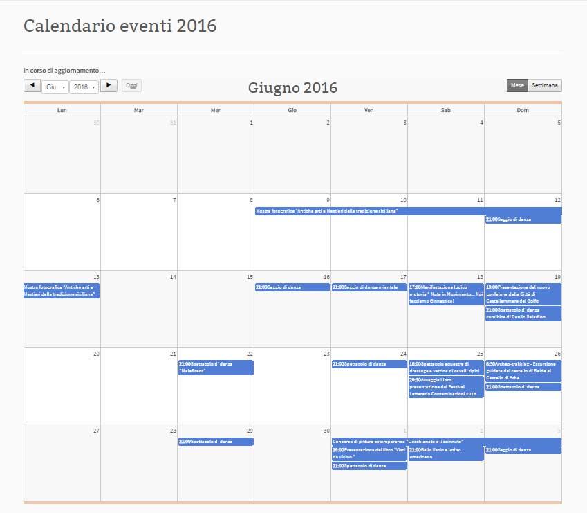 Calendario degli eventi di Castellammare del Golfo