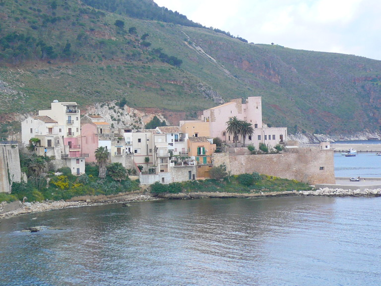 castellammare del golfo panoramica del castello